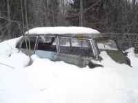 Schrott im Schnee